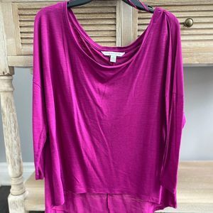American Eagle Purple Cropped Blouse Top